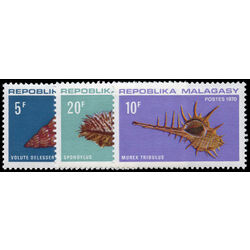 madagascar stamp 447 9 shells 1970