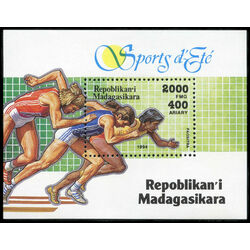 madagascar stamp 1271 sports 1995