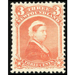 newfoundland stamp 33 queen victoria 3 1870