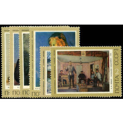 russia stamp 4036 41 russian paintings 1972