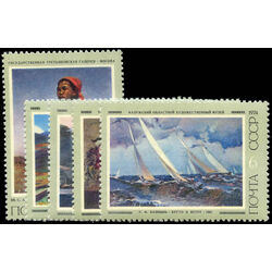 russia stamp 4230 4 paintings 1974