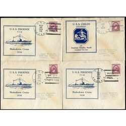 9 covers featuring uss phoenix and manley 1938 1939 cruises