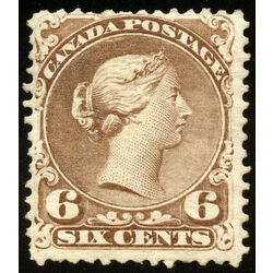 canada stamp 27a queen victoria 6 1868 m vgog 006