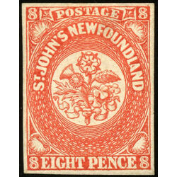 newfoundland stamp 8 1857 first pence issue 8d 1857 m vf ng 011