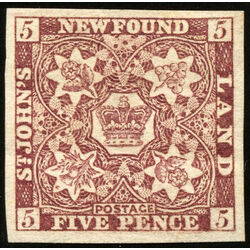 newfoundland stamp 5 1857 first pence issue 5d 1857 m vf 008
