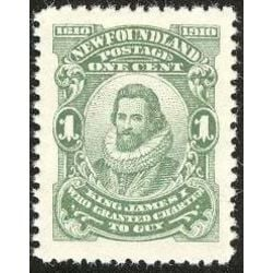 newfoundland stamp 87a king james i 1 1910