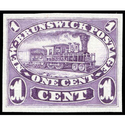 new brunswick stamp 6p locomotive 1 1860