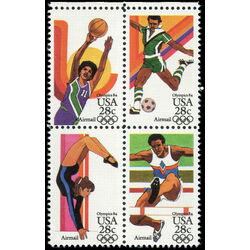 us stamp c air mail c104a summer olympics 1984 1983