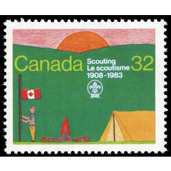 canada stamp 993 scout encampment 32 1983
