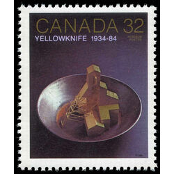 canada stamp 1009 gold mine head frame in pan 32 1984