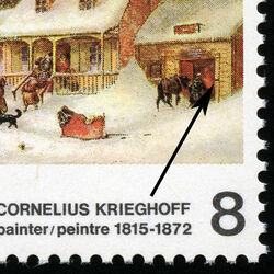 canada stamp 610i the blacksmith s shop 8 1972