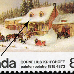 canada stamp 610iv the blacksmith s shop 8 1972