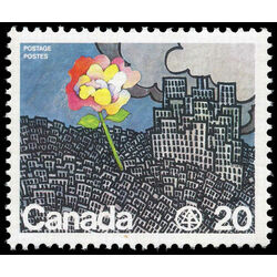 canada stamp 690 flower growing from city 20 1976