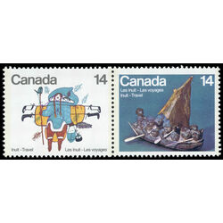 canada stamp 770a inuit travel 1978