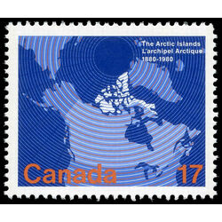 canada stamp 847 map of canada 17 1980
