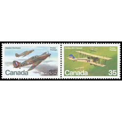 canada stamp 876a military aircraft 1980
