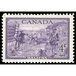 canada stamp 283 founding of halifax 4 1949