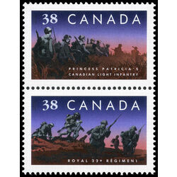 canada stamp 1250a canadian infantry regiments 1989