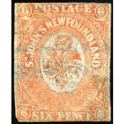 newfoundland stamp 13 1860 second pence issue 6d 1860 u def 012