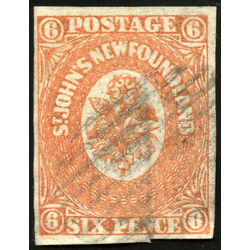 newfoundland stamp 13 1860 second pence issue 6d 1860 u vf 013