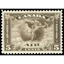 canada stamp c air mail c2 mercury with scroll in hand 5 1930
