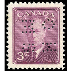 canada stamp o official o286 king george vi postes postage 3 1949