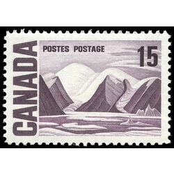 canada stamp 463i bylot island by lawren harris 15 1967