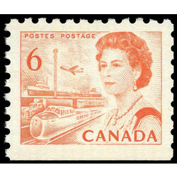 canada stamp 459as queen elizabeth ii transportation 6 1968