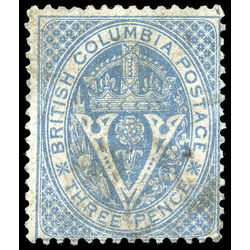 british columbia vancouver island stamp 7a seal of british columbia 3d 1865 u f 009