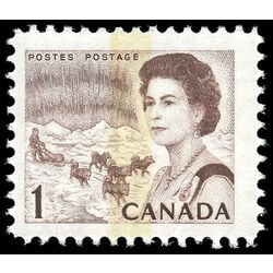 canada stamp 454pii queen elizabeth ii northern lights 1 1971