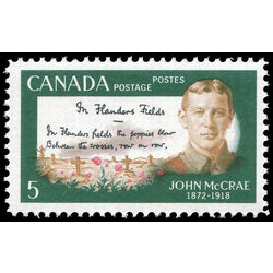 canada stamp 487 john mccrae and poem 5 1968