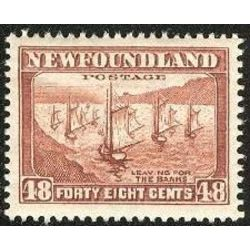 newfoundland stamp 199 fishing fleet 48 1938