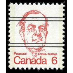canada stamp 591xx lester b pearson 6 1973