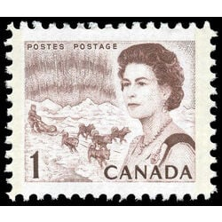 canada stamp 454piii queen elizabeth ii northern lights 1 1971