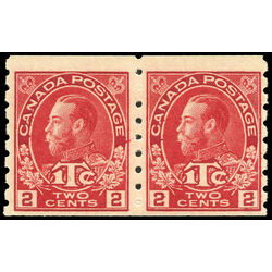 canada stamp mr war tax mr6pa war tax coil pair 1916 m f vfnh 004