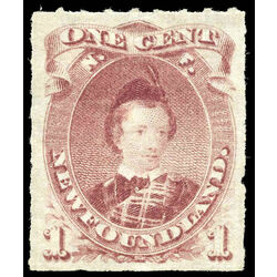 newfoundland stamp 37 edward prince of wales 1 1877 m vf 007