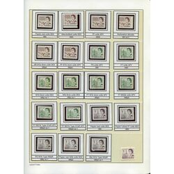 canada centennial definitives collection 1967 73