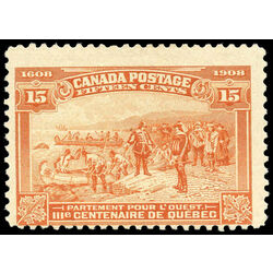 canada stamp 102 champlain s departure 15 1908 m f ng 017