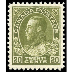 canada stamp 119b king george v 20 1925 m vfnh 001