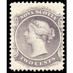 nova scotia stamp 9 queen victoria 2 1860