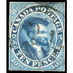 canada stamp 7a jacques cartier 10d 1855