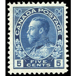 canada stamp 111 king george v 5 1914 m vf 013