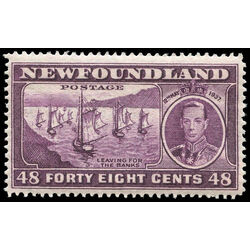 newfoundland stamp 243ii fishing fleet 48 1937