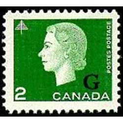 canada stamp o official o47 queen elizabeth ii cameo portrait 2 1963