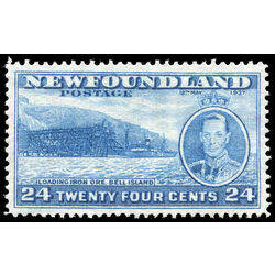 newfoundland stamp 241 loading ore bell island 24 1937 m vf 002