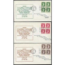 canada first day covers 337p 341p