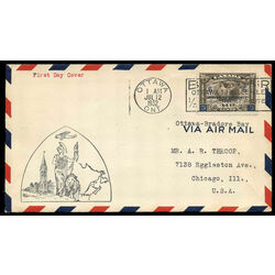 canada stamp c air mail c4 c2 surcharged mercury with scroll in hand 6 1932 fdc 007