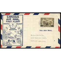 canada stamp c air mail c3 c1 surcharged two winged figures against globe 6 1932 fdc 014