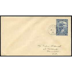 canada stamp 208 jacques cartier 3 1934 fdc 008