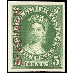new brunswick stamp 8pii queen victoria 5 1860